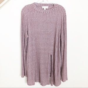 Forever 21 + Mauve Knit Top Tunic - Size 3X
